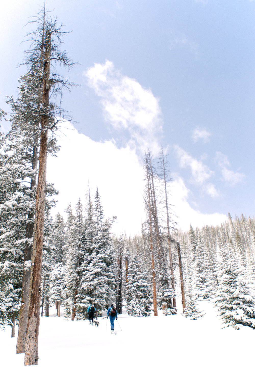 Jimena Peck Denver Lifestyle Editorial Photographer Snow Trekking