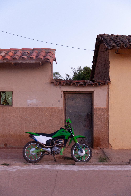 Jimena Peck Denver Lifestyle Editorial Photographer Motorcycle Adobe House