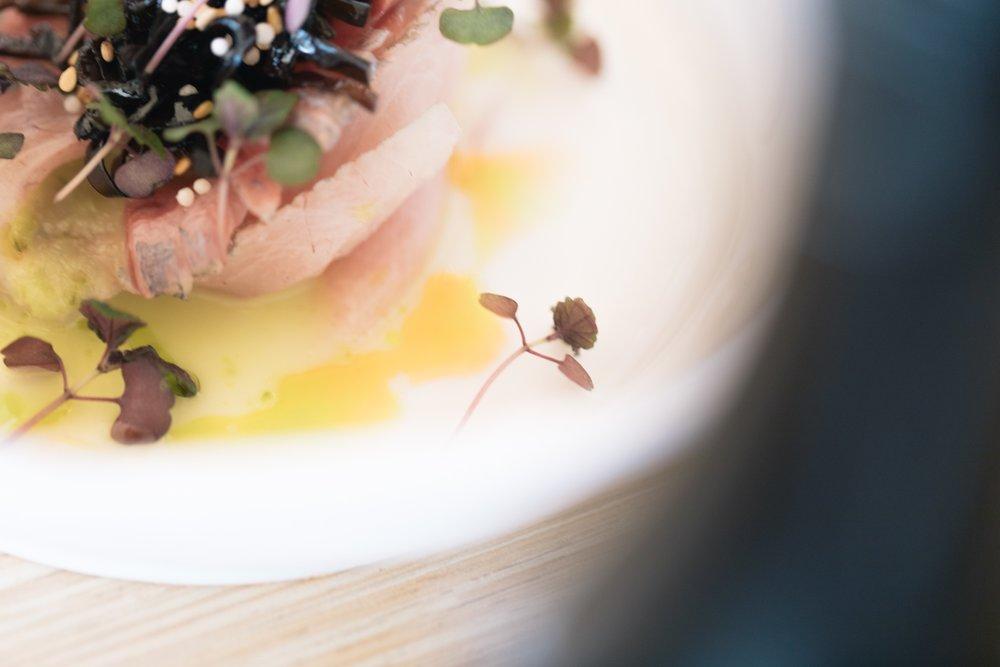 Jimena Peck Denver Lifestyle Food Photographer Tiradito Dish Close Up