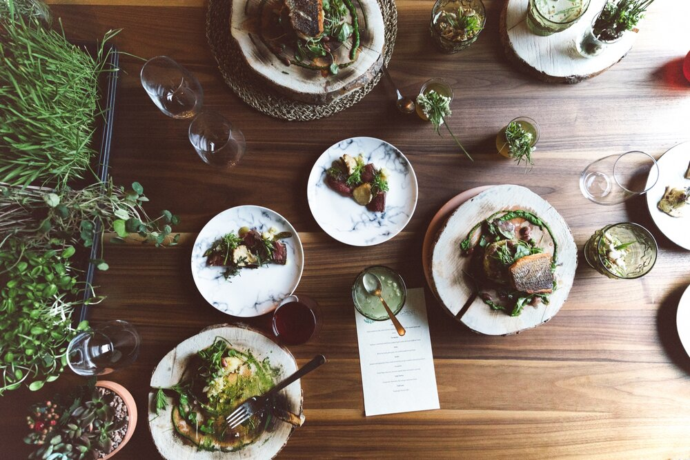 Jimena Peck Denver Lifestyle Food Photographer Thistle and Mint Full Table