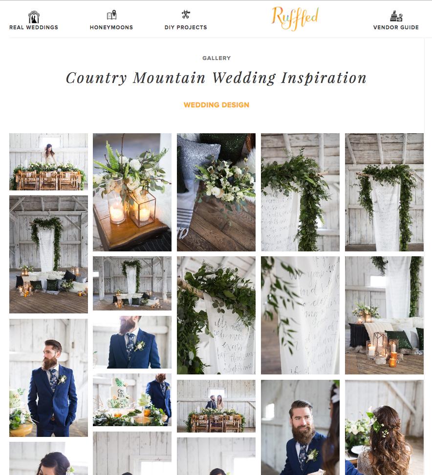 Ruffled Blog: Country Mountain Wedding Inspiration