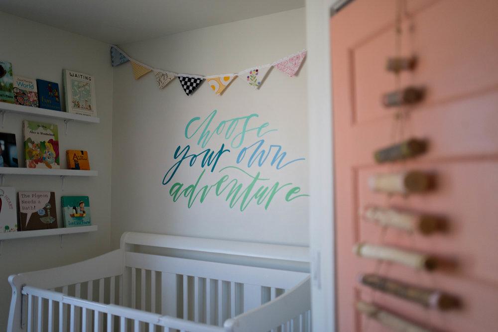 Hand Lettered Kids Mural