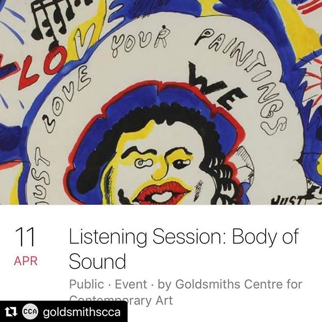 Going tonight to see this! A listening session to hear anecdotal retelling of Goldsmiths CCA exhibition How Chicago! Imagists 60s & 70s through sound and storytelling. Three artists including Ifeoma Orjiekwe!!! Tickets still available 👍👍👍 @goldsmithscca @ifyorjiekwe