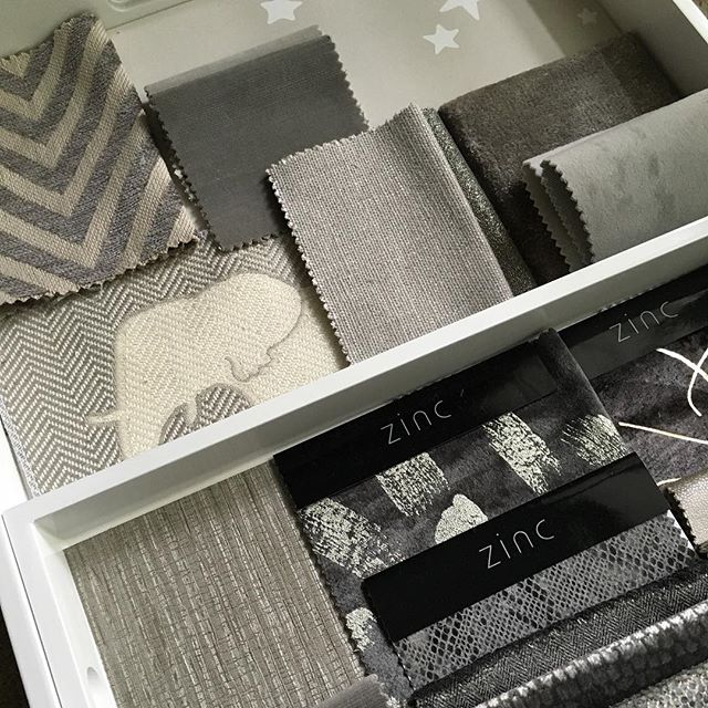 Loved our second presentation today with our lovely pregnant client. Made nursery and master bedroom choices as well as a few other rooms. #hushdesignuk #firstnursery #interiors #inspiration #instapiration #interiordesign #samples #fabrics #cushions