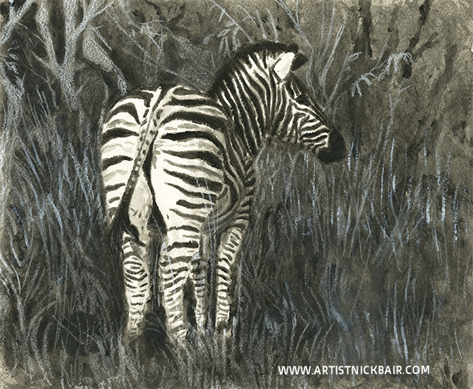 Back of Zebra - SOLD