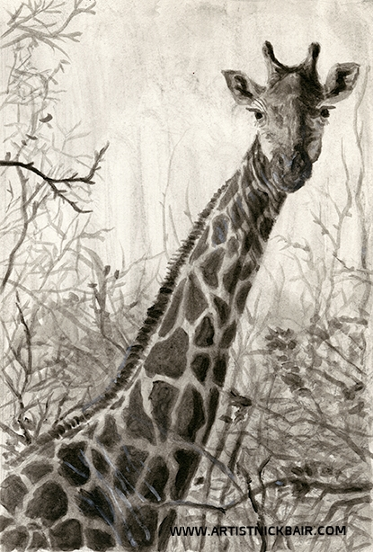 Giraffe in Branches - SOLD