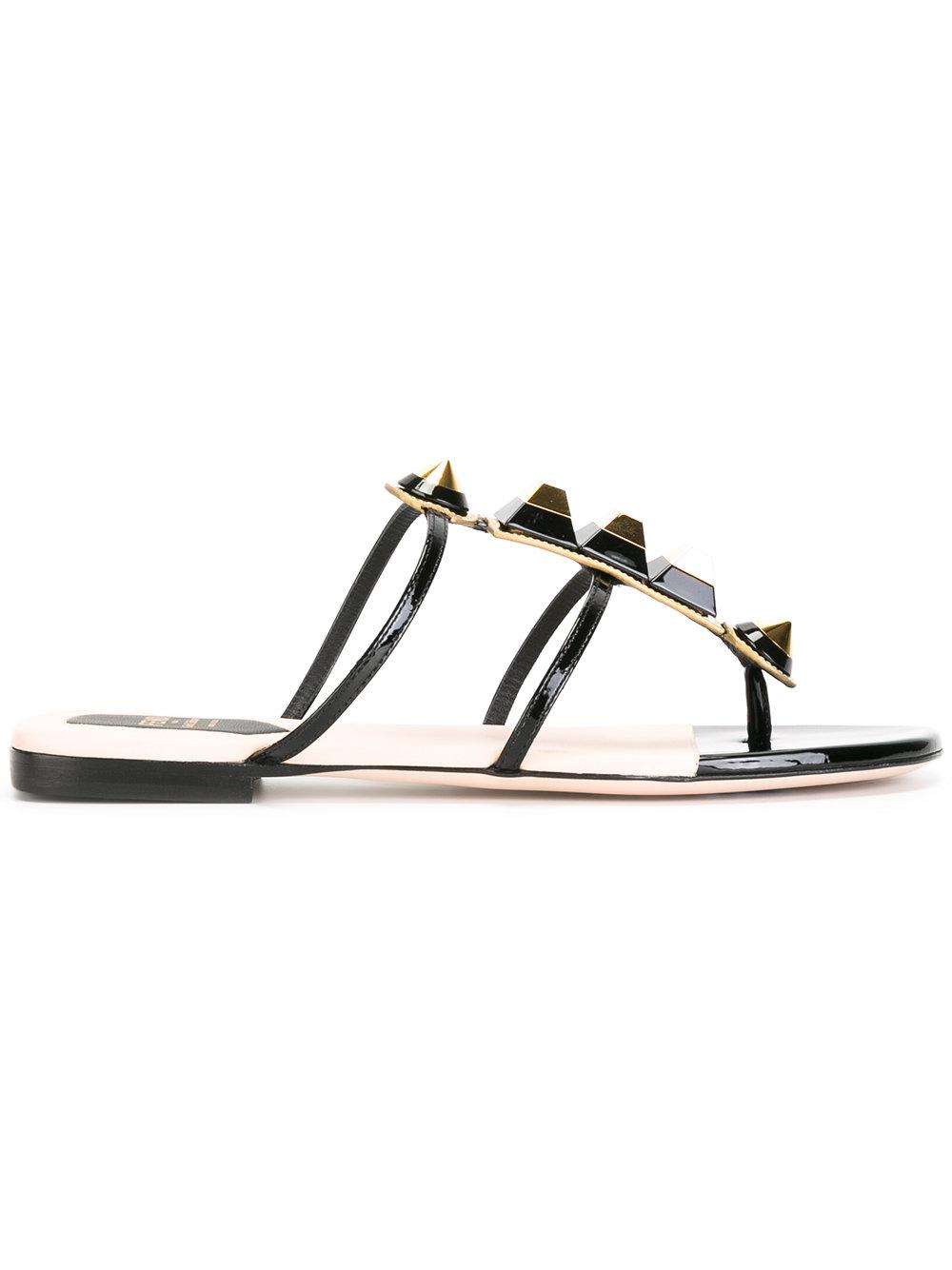 FENDI - studded T-bar sandals  $650