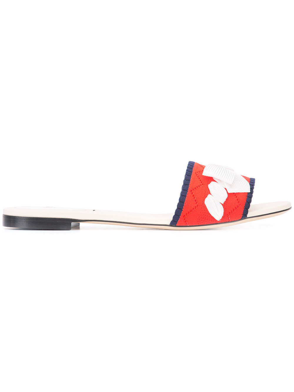FENDI - bow-embroidered sandals  $550