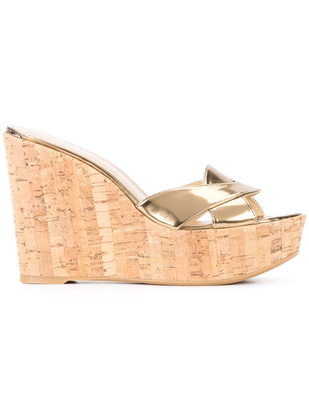 STUART WEITZMAN - wedge sandals  $385