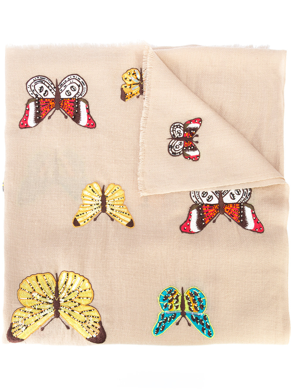 JANAVI embroidered scarf - $395