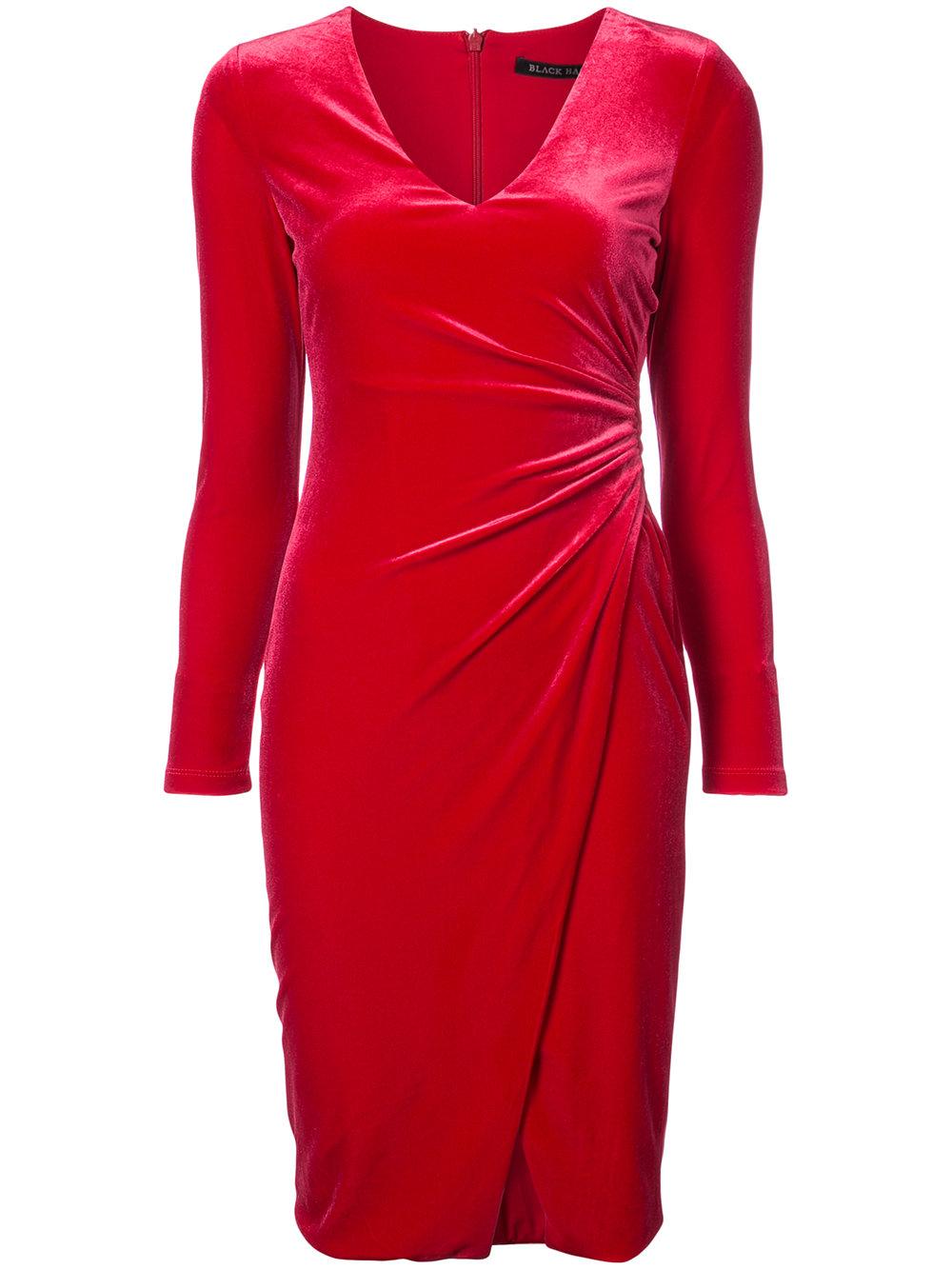 BLACK HALO velvet dress - $375