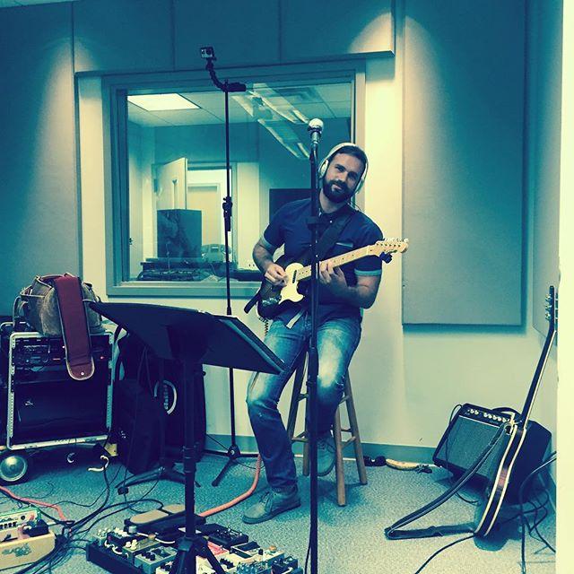 """Kickin' it at WUCF studios."" #heritageguitars #gandlguitars #pedalboards #orlando #orlandomusic #originalmusic"