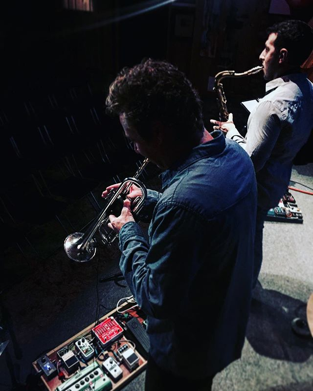 Horns 'n stuff.  #pog #ehx #ehxfreeze #moog #line6 #line6dl4 #robotman #robotmanmusic