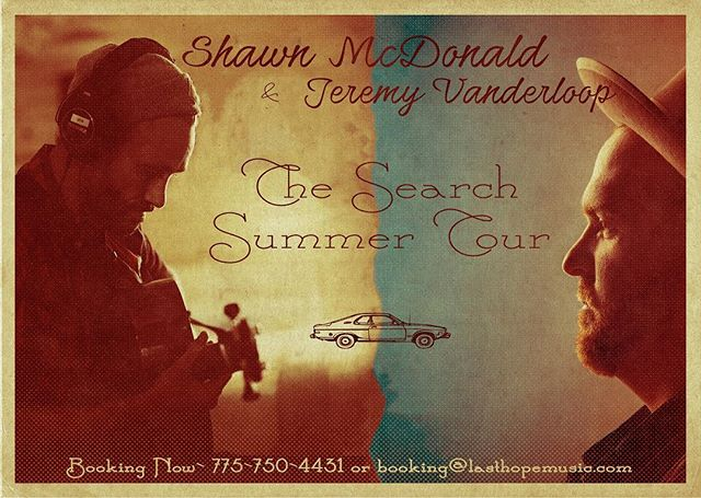 I'm going to just leave this right here. Excited to do another tour with my buddy @shawn_mcdonald_music this Summer. Booking for July right now. Can't wait to see our friends around the country!!