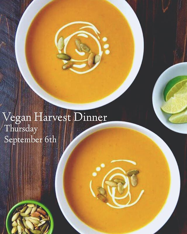 Thursday September 6th come enjoy a #vegan round table harvest dinner at @nectarjuicery  Vegan Harvest Dinner Cucumber and melon salad, mint and ume plum vinegar. Squash coconut soup. Coconut and savoury pumpkinseed brittle. Zucchini lemon thyme galette, nut cheese and basil drizzle. Charred broccoli, red chili flakes, toasted hazelnuts. Broiled plums, vanilla cardamom custard, oat crumbles. $49 pp. Email to reserve and book your spot  Info@Marika Richoz.com