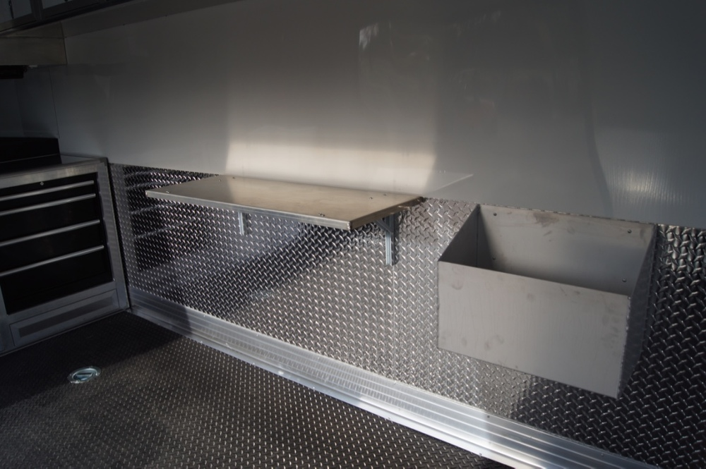 Folding Aluminum Work Bench/ Aluminum Gas Can Holder
