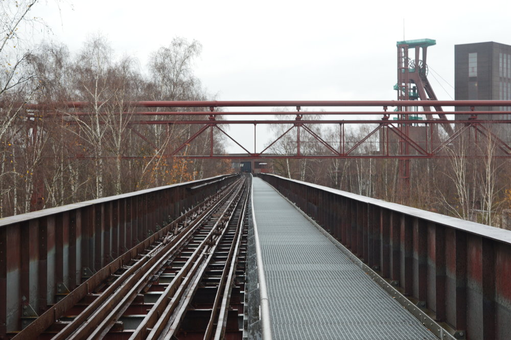 Walkway along a former coal transport bridge.