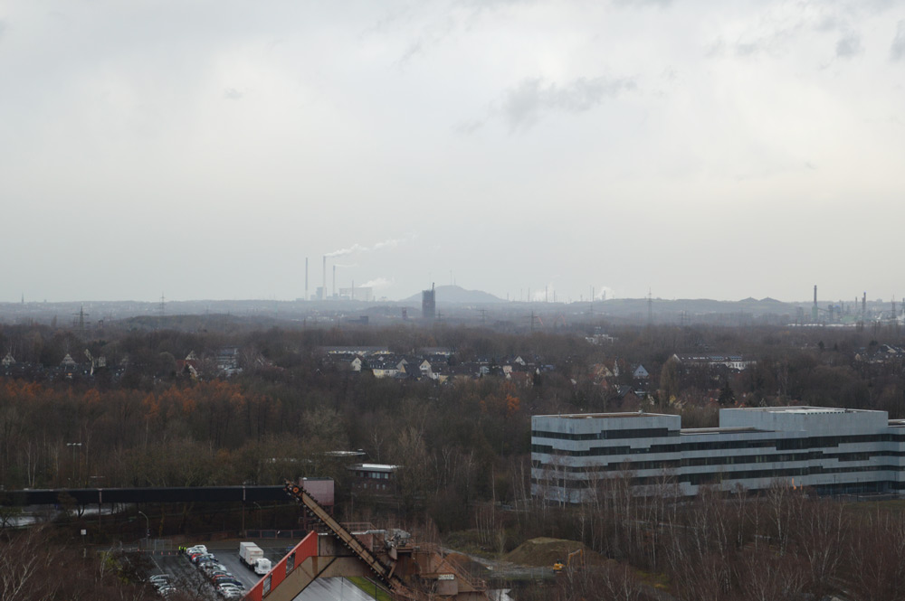 The industrial landscape of the Ruhr district.