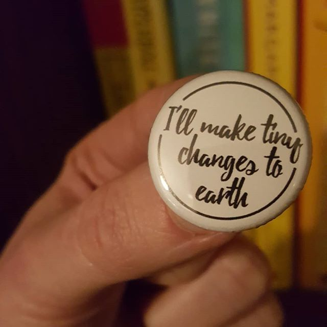 A 2019 intention inspired by #scotthutchison of @frabbits 💕💕 Thank you to Etsy maker @atherprints for creating the pin badge reminder x . . #maketinychanges #frightenedrabbit #fr  #happynewyear