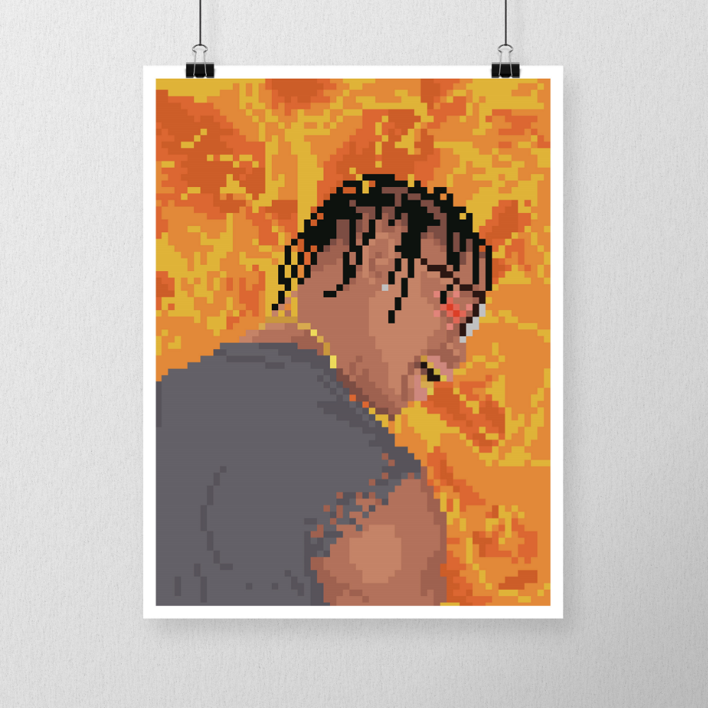 Purchase this Travis Scott poster here.