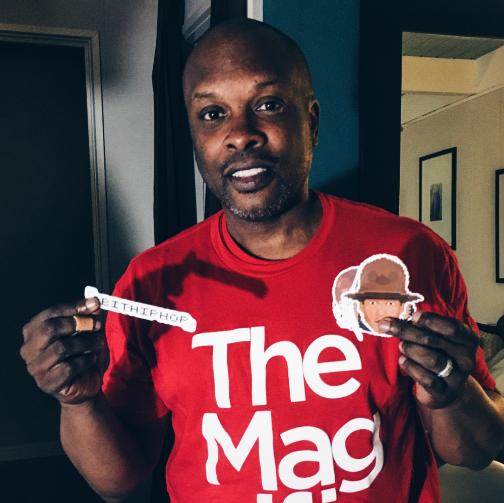 World famous DJ, Jazzy Jeff, repping some of our 8BitHipHop stickers.