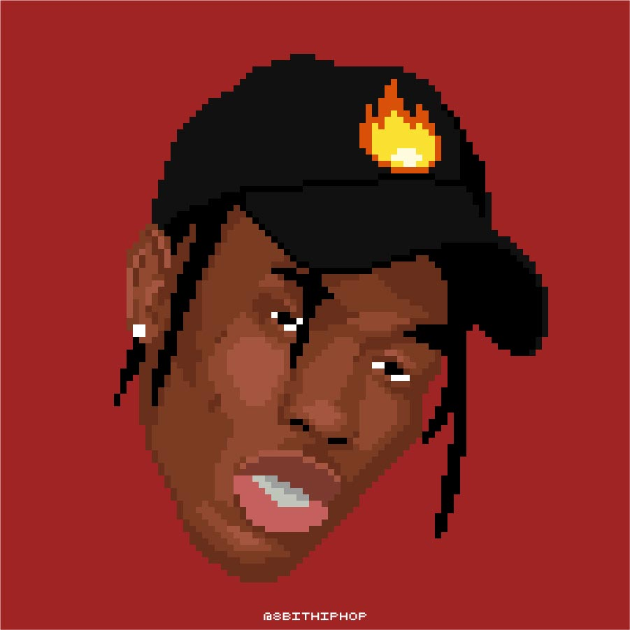 "Travis also goes by his nickname ""La Flame"""