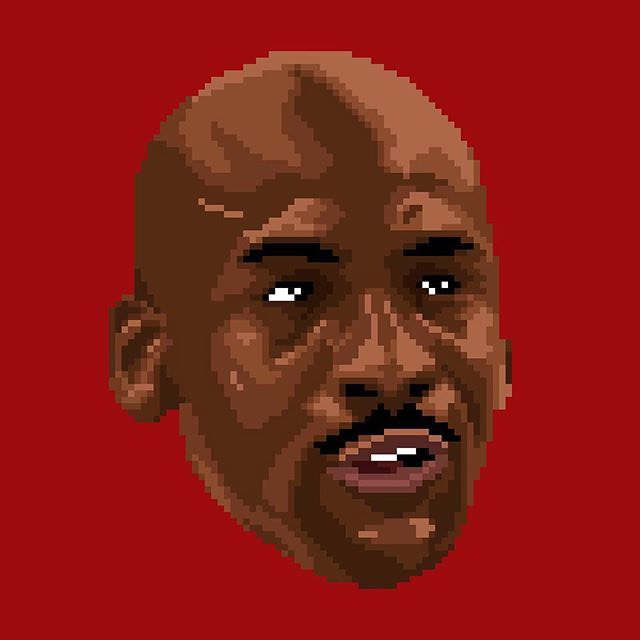 MICHAEL JORDAN • Next up on @8bitathletes we'll be covering some of the star athletes of the #NBAFinals 🏆