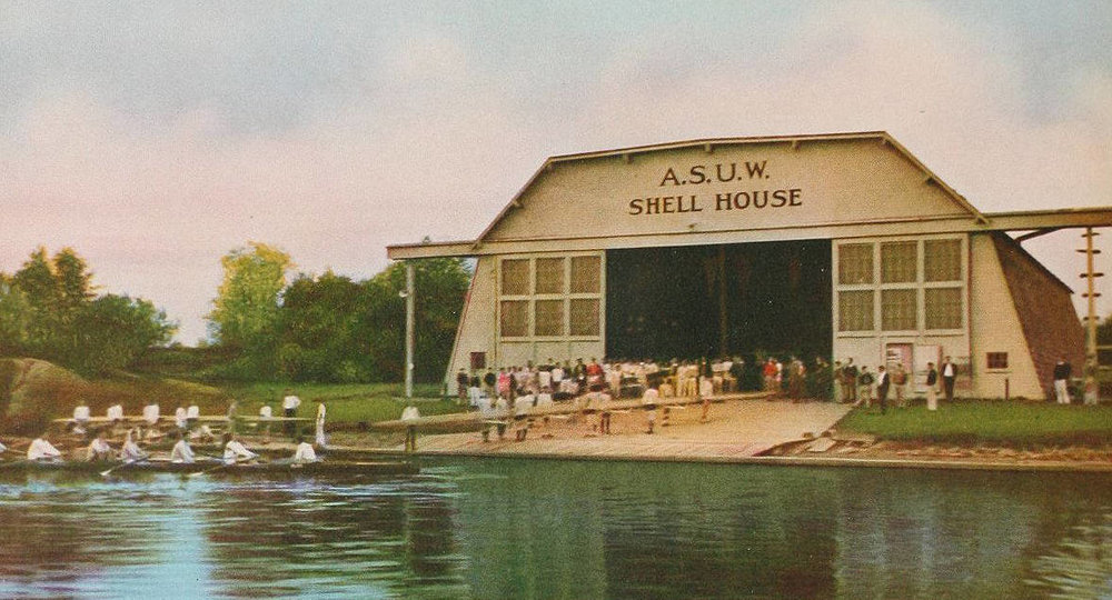 A.S.U.W. Shell House, University of Washington, Circa 1932. Future Rowing Heritage Museum?