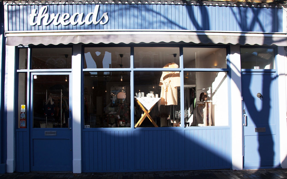 186 Bellenden Rd, SE15 4BW / 020 3784 0020 / hello@threadspeckham.com
