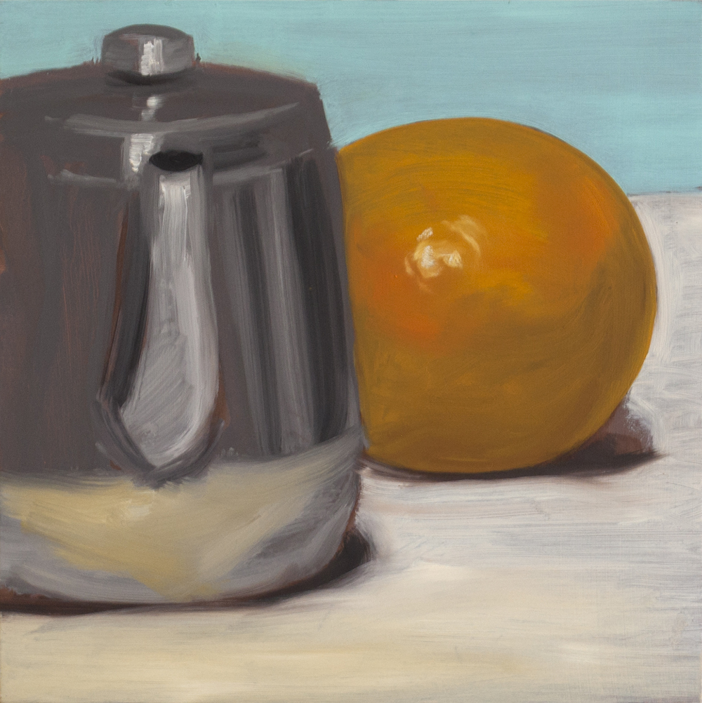 Teapot and Grapefruit