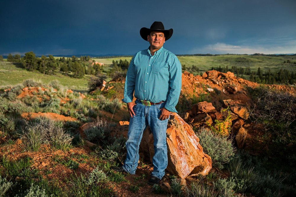 A. J. Not Afraid, chairman of the Crow Nation in Montana, is fighting to keep grizzlies—which are sacred to Native Americans—protected under the Endangered Species Act.  PHOTOGRAPH BY KATIE ORLINSKY, NATIONAL GEOGRAPHIC