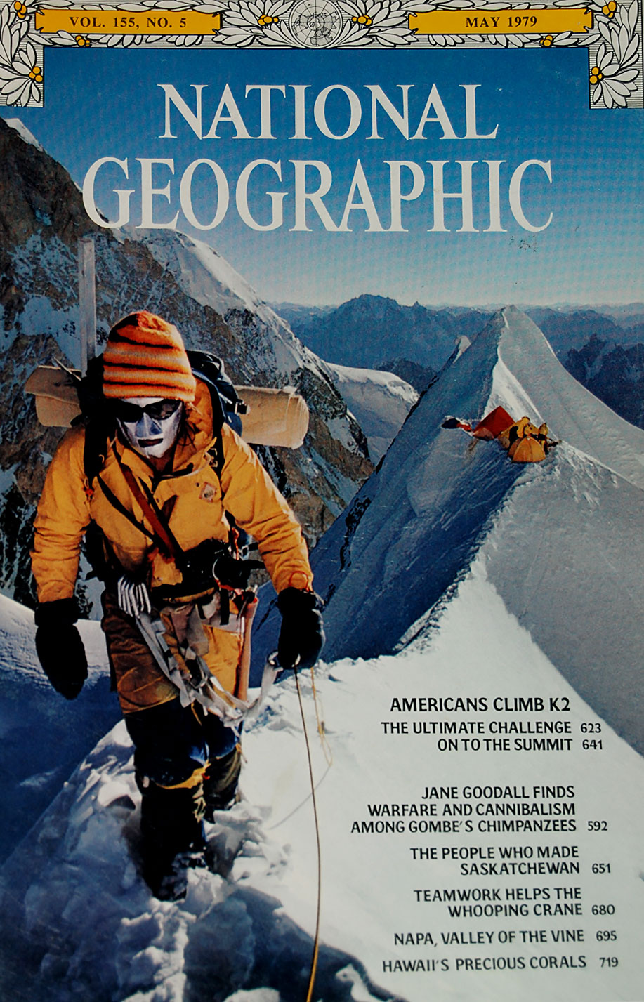 Rick on the cover of National Geographic, May 1979