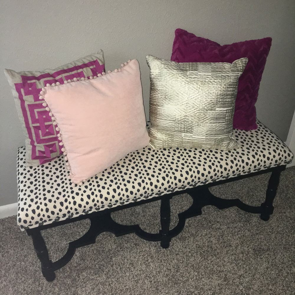 Only $129 from HomeGoods! Such a steal! And the pillows add a nice touch.