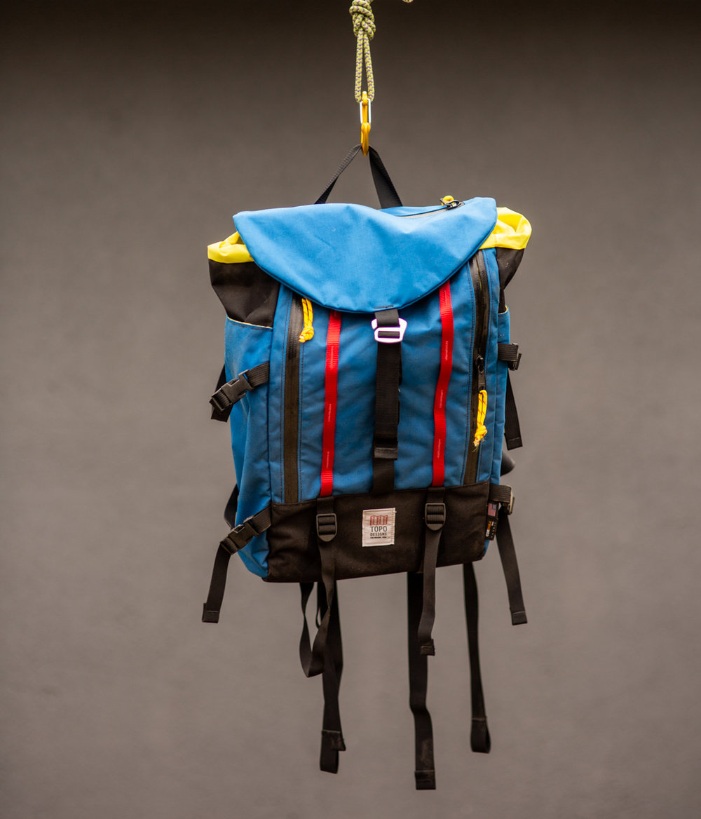 Topo Designs Mountain Pack | $115 - Brand New, used as a photo prop. One of my favorite Topo bags. Retails for $189.