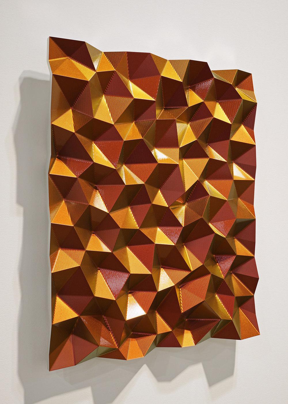 Hexagonal Perturbation- Red/Orange