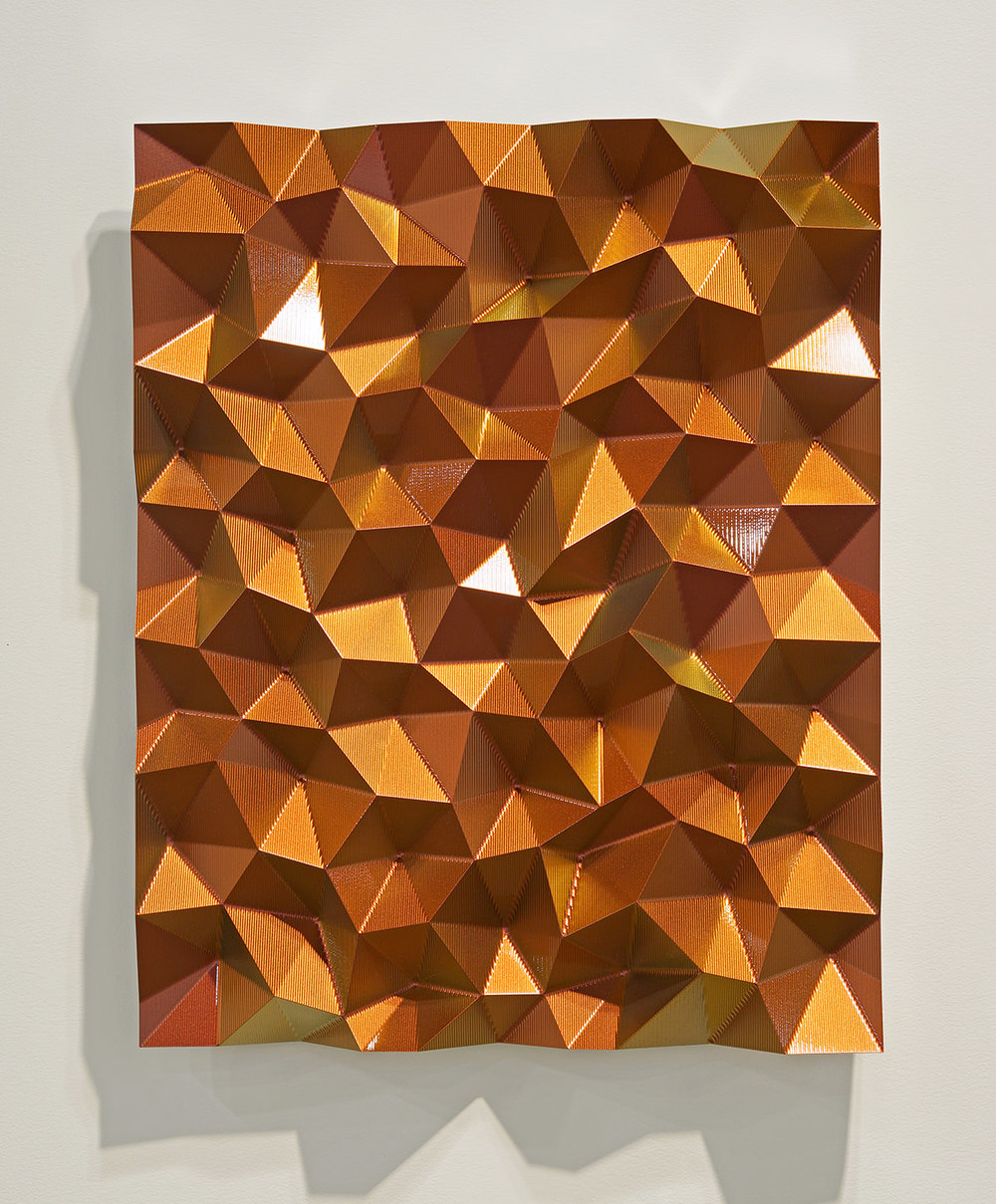 Hexagonal Perturbation- Red/Orange