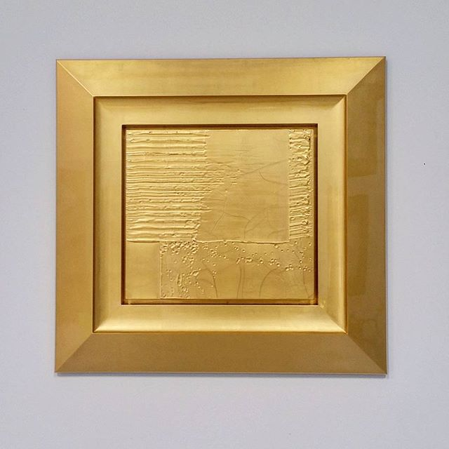#new #craquelure #detail #painting #gold #postabstract #painting #sculpture #hybrid #icon #geometric #art #monochrome see it now #dallasartfair @mcclaingallery