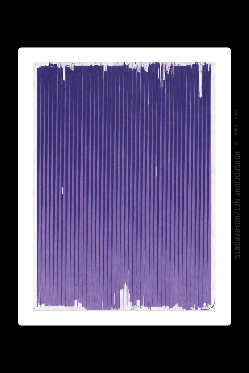 Andrew Brischler   (Colored Pencil and Graphite on Paper)  Lonely Planet (Dark Violet / Parma Violet), 2016-2017