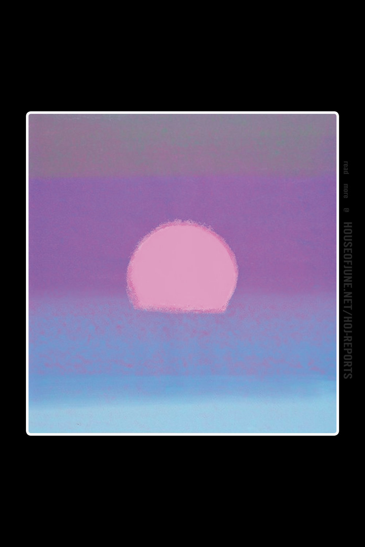 Andy Warhol   (Screenprint on Paper)  Sunset (Purple/blue), 1972