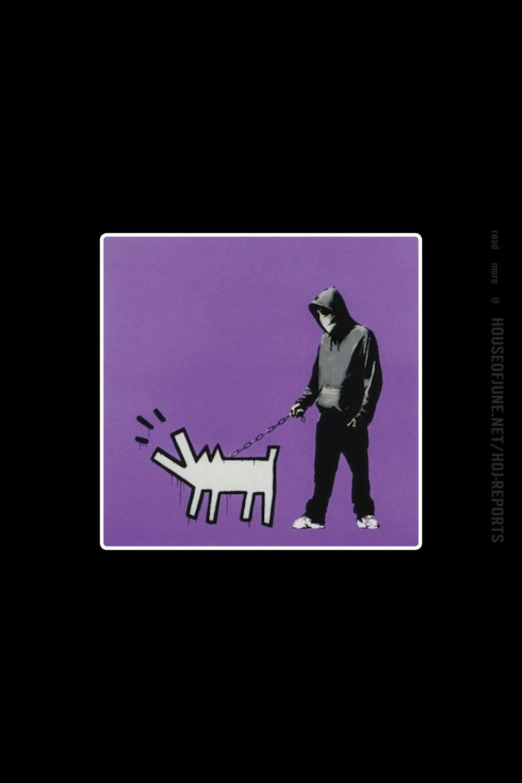 Banksy   (Screenprint)  Choose Your Weapon (Bright Purple), 2010