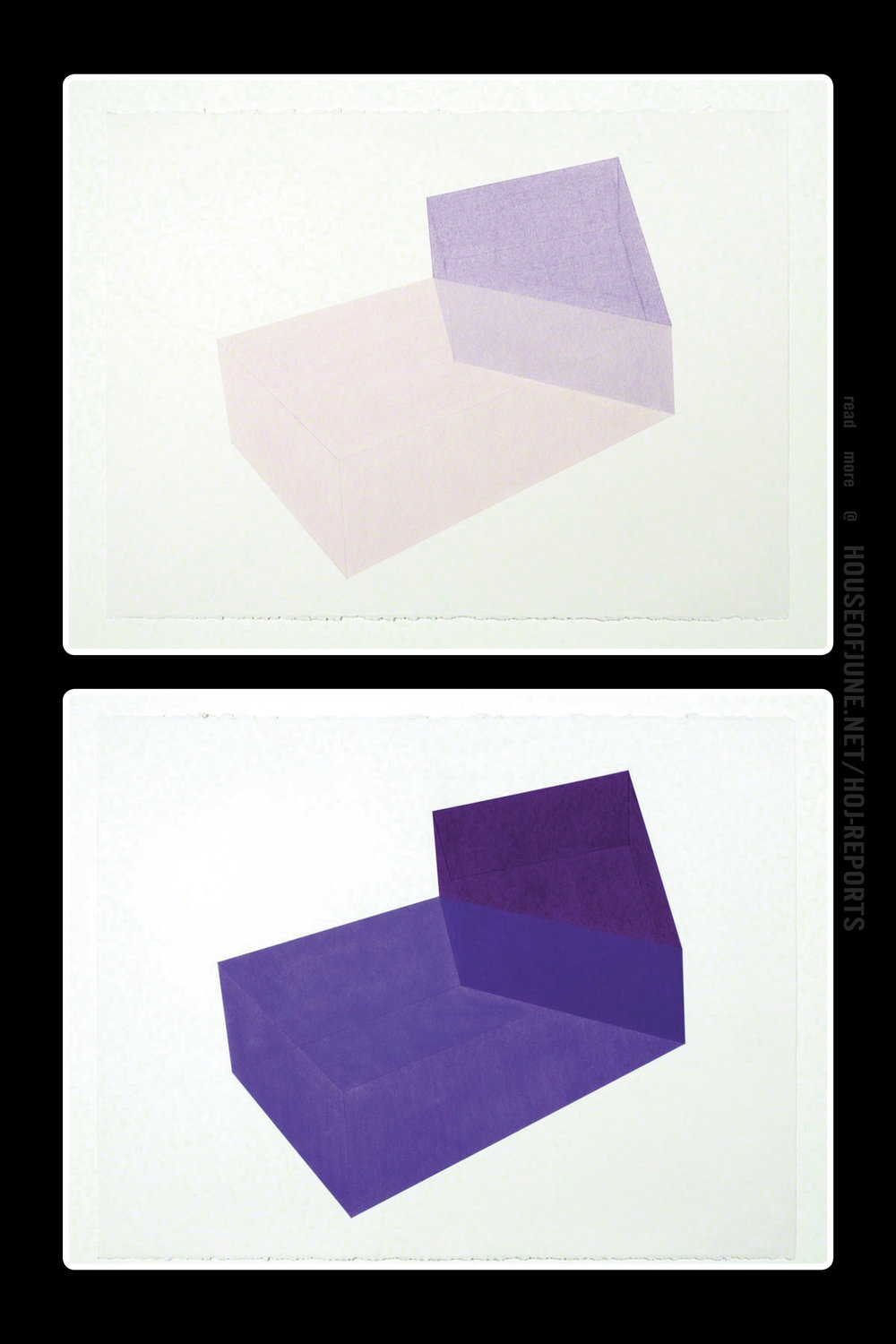 Brant Ritter   (Pastel on Paper)  Accidental Happiness Purple + Purple, 2017 (Wireframe on top)