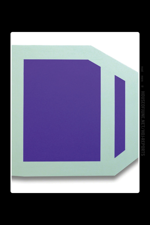 Brent Hallard   (Acrylic on Aluminum)  Plumb Purple (Mint), 2014