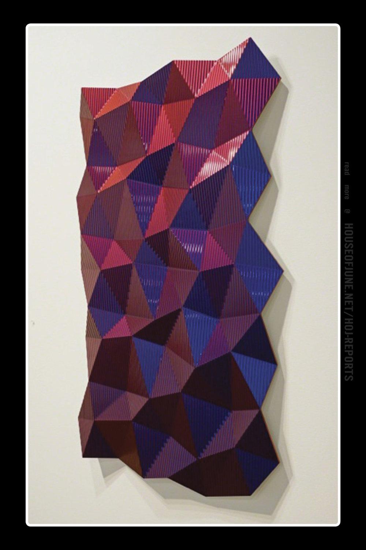 Christian Eckart   (Extreme-effect Urethane on Aluminum)  Hexagonal Perturbation (Violet), 2011