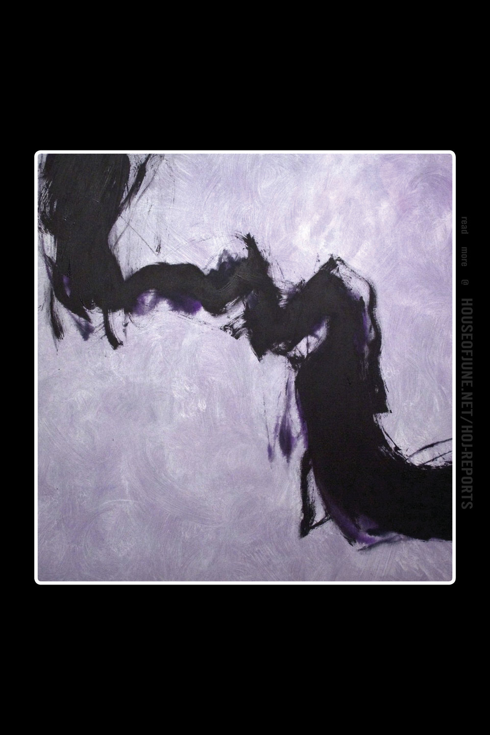 Cleve Gray   (Acrylic on Canvas)  Considering All Possible Worlds: Purple & Black, 1992