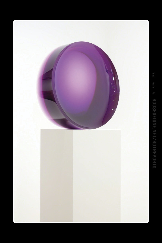 Dewain Valentine   (Cast Polyester Resin)  Concave Circle, Purple, 1968-2016