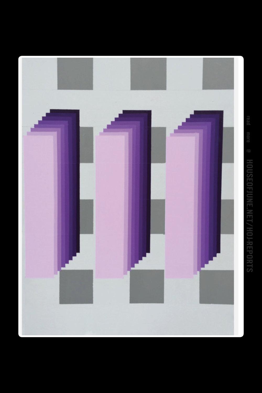 Edward Granger   (Acrylic on Canvas)  Purple Code