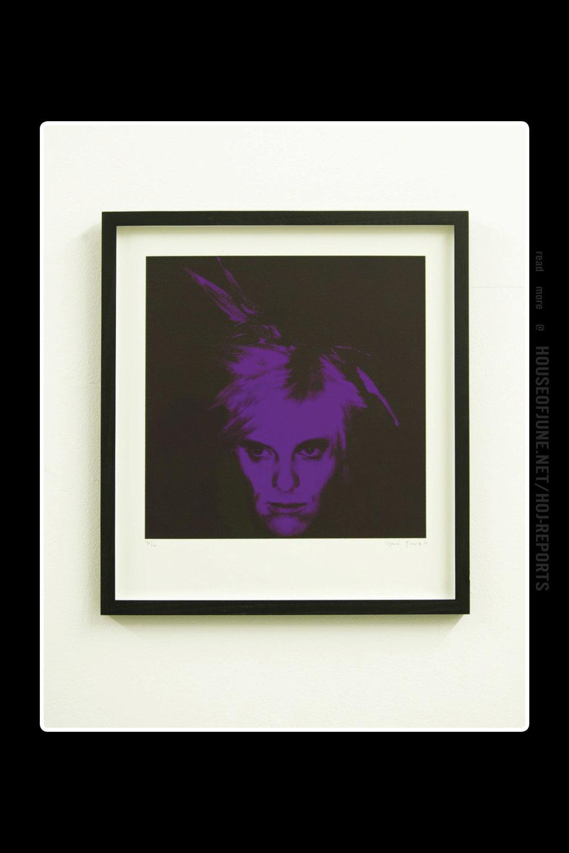 Gavin Turk   (Silkscreen on Paper)  Fright Wig (Purple), 2010
