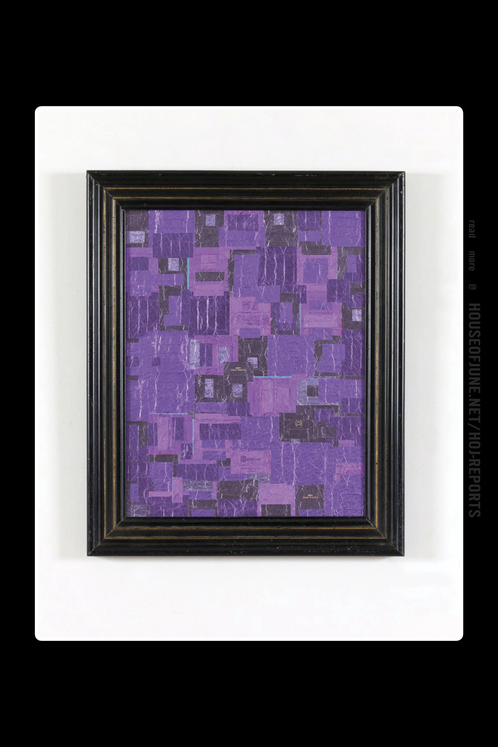 Flavio Favelli   (Collage of Praline Wrappers) Purple, 2015