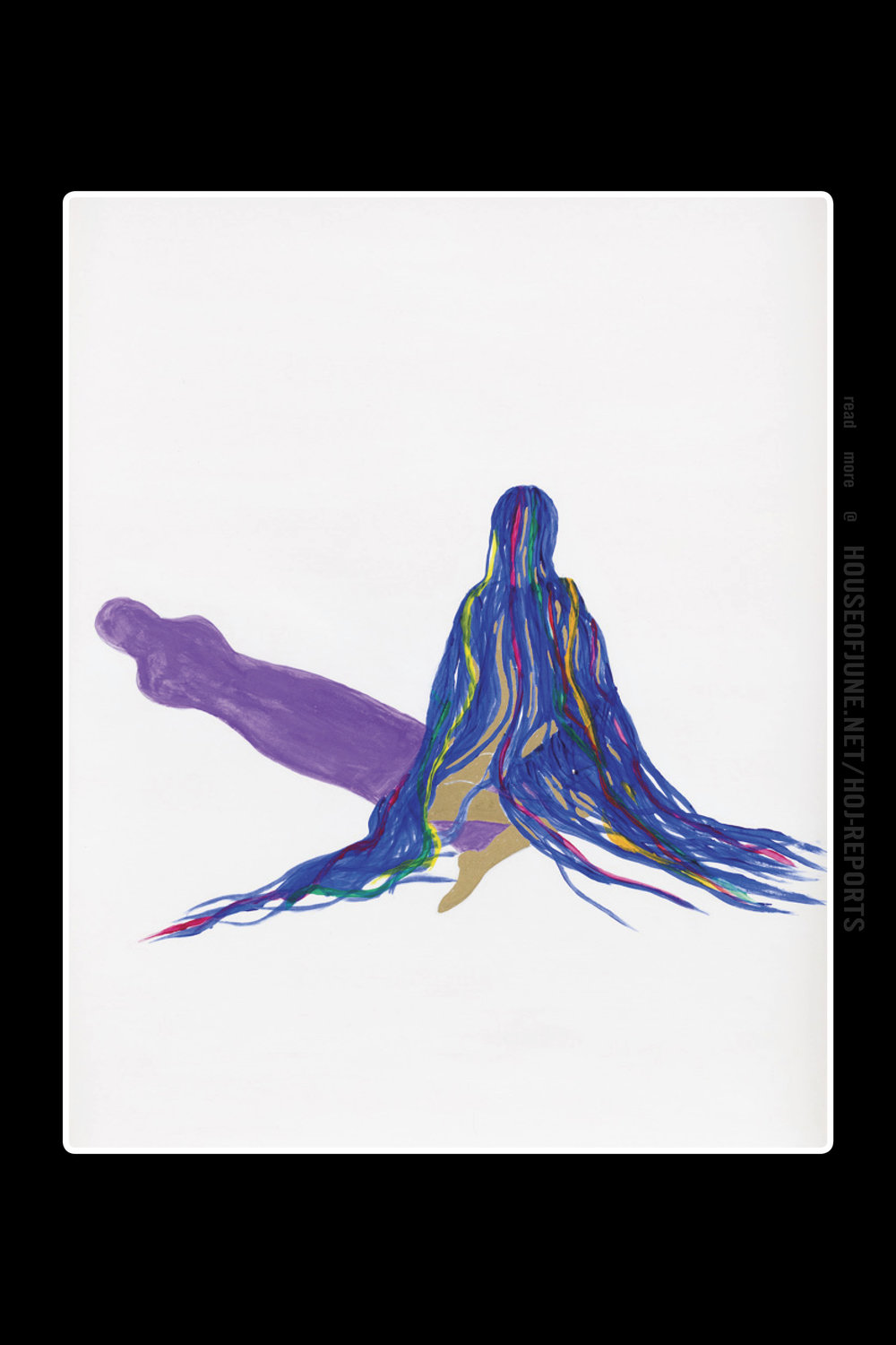 Grace Schwindt , Blue Ribbons and Purple Shadow, 2013