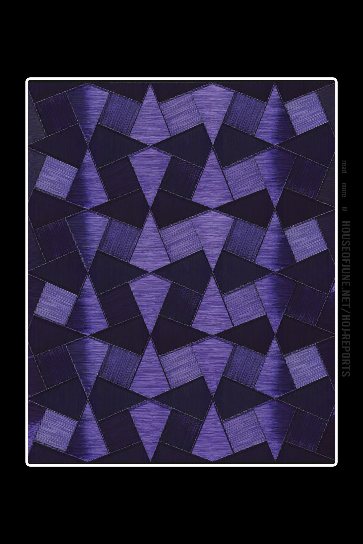 Gulay Semercioglu   (Wire Screw Wood)  Purple Pieces, 2017